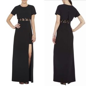 BCBGMaxAzria Haylee TShirt Overlay Long Gown Dress